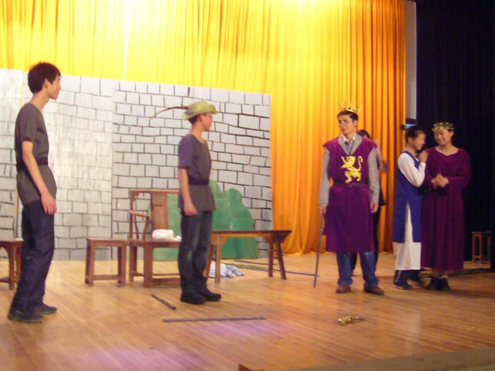 Mr. He, a Senior 1 English teacher, guest stars as King Richard.